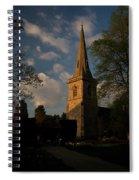 St Davids Church At Sundown Spiral Notebook