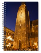 St. Elizabeth's Church Tower At Night In Wroclaw Spiral Notebook
