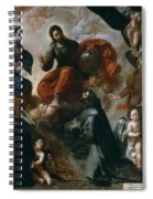 St Francis Of Assisi In The Portiuncula With  Donors Antonio Contreras And Maria Amezqueta Spiral Notebook