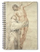 St Francis Rejecting The World And Embracing Christ Spiral Notebook