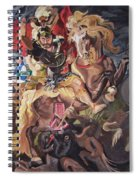St George And The Dragon Spiral Notebook