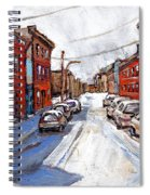 St Henri Depanneur Canadian Paintings Mini Montreal Masterpieces For Sale Petits Formats A Vendre  Spiral Notebook