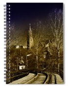 St. John The Baptist From The Rail Road Trestle In Manayunk Spiral Notebook