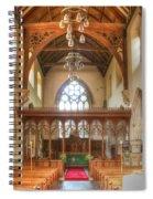 St John The Baptist Penshurst Interior Spiral Notebook