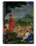 St John The Baptist Preaching Spiral Notebook