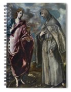 St. John The Evangelist And St. Francis Of Assisi Spiral Notebook