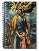St Joseph And The Christ Child 1599 Spiral Notebook