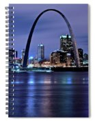 St Louis Black N Blue Spiral Notebook