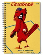 St. Louis Cardinals Vintage 1956 Program Spiral Notebook
