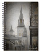 St. Louis Cathedral From Chartres St. - Nola Spiral Notebook