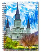 St. Louis Cathedral - Paint Spiral Notebook
