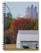 St Louis Skyline From Illinois Spiral Notebook