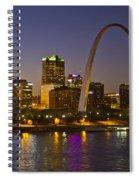 St Louis Skyline From Poplar Street Bridge Spiral Notebook