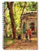 St Louis Square St Denis Street Spiral Notebook