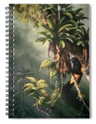 St. Lucia Oriole In Bromeliads Spiral Notebook