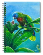 St. Lucia Parrot And Bwa Pain Marron Spiral Notebook