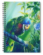St. Lucia Parrot And Wild Passionfruit Spiral Notebook