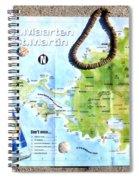 St. Martin St. Maarten Map Spiral Notebook