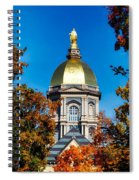 St Mary Atop The Golden Dome Of Notre Dame Spiral Notebook