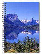 St Mary Lake Glacier National Park Mt Spiral Notebook