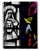St Mary Redcliffe Stained Glass Close Up C Spiral Notebook