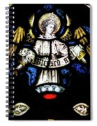 St Mary Redcliffe Stained Glass Close Up H Spiral Notebook