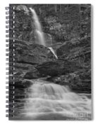 St Mary Triple Cascades - Black And White Spiral Notebook