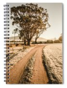 St Marys Winter Country Road Spiral Notebook