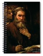 St Matthew And The Angel Spiral Notebook