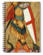 St Michael And The Dragon Spiral Notebook