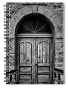 St Olafs Church Door Spiral Notebook