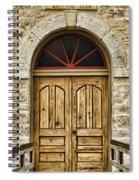 St Olafs Kirke Door Spiral Notebook