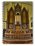 St Olafs Kirke Pulpit Spiral Notebook