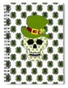 St Paddys Skull  Spiral Notebook