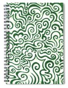 St Patrick's Day Abstract Spiral Notebook