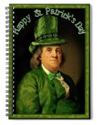 St Patrick's Day Ben Franklin Spiral Notebook