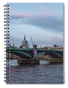 St. Paul's Cathedral Behind The Southwark Bridge During Sunset Spiral Notebook