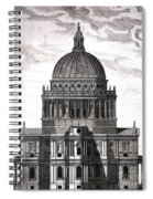 St. Pauls Drawn By Christopher Wren Spiral Notebook