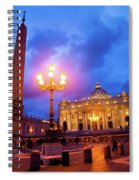 St. Peters Cathedral At Night Spiral Notebook