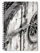 St. Saviour Church Window - Black And White Spiral Notebook