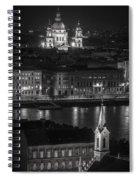 St Stephens Basilica Night Bw Spiral Notebook