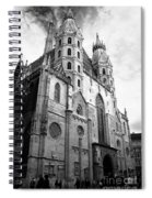 St Stephens Cathedral Vienna In Black And White Spiral Notebook
