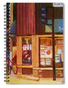 St Urbain And Mount Royal Spiral Notebook