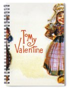 St. Valentines Day Card Spiral Notebook