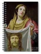 St. Veronica Holding The Holy Shroud Spiral Notebook