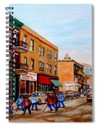 St. Viateur Bagel Hockey Game Spiral Notebook
