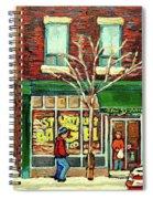 St Viateur Bagel Shop Montreal Spiral Notebook