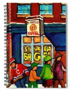 St. Viateur Bagel With Hockey Spiral Notebook