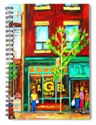 St. Viateur Bagel With Shoppers Spiral Notebook