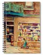 St Viateur Street Montreal  Spiral Notebook